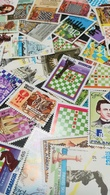 MIX DI 40 FRANCOBOLLI USATI SCACCHI - CHESS - 40 CANCELLED STAMPS GREAT OFFER - Scacchi