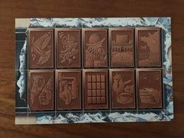 """CARTE POSTALE Le Chocolat Avec Vignette En Grisé NON RECOUVERTE DE LA MENTION """"Affranchir Ici"""" - Neuve ** - Postal Stamped Stationery"""