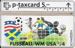 Switzerland: PTT KP-94/6L 407L Fussball WM94 - Schweden - Svizzera