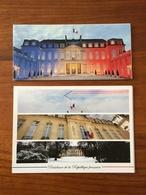 Lot De 2 CARTES De VOEUX Signées Par Le Président François Hollande Pour Les Voeux 2016 Et 2017 - TBE - Other