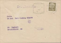 SAAR 411 EF Auf Brief-Drucksache Mit Stempel: Saarbrücken 21.2.1959 - 1957-59 Bundesland