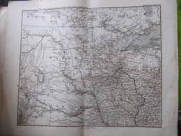 Carte ETATS UNIS : DAKOTA - NEBRASKA - MINNESOTA - STIELER'S HAND - GOTHA : JUSTUS PERTHES 1873 - Format : 49 X 39 Cm - Geographische Kaarten