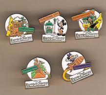 PIN S - 5  EURO DISNEY -  DINGO  -  MICKEY - DONALD - PETER PAN -  MINNIE - Disney