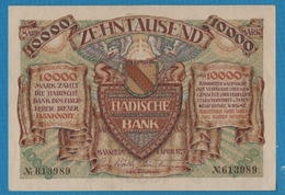 BADISCHE BANK 10.000 Mark    01.04.1923Without Series  No 613989 P# S910 - [11] Emissioni Locali