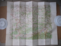 Carte Entoilée Anglaise WWI Namur Belgique Belgium Charleroi Binche Givet Dinan Gosselies Chimay Trelon Jeumont - Dokumente