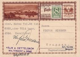AUTRICHE 1931  ENTIER POSTAL  /GANZSACHE/POSTAL STATIONERY   CARTE ILLUSTREE DE GRAZ - Ganzsachen