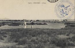 Cachet Déesse Assise Groupement De Berguent CAD Berguent Oran 14 4 11 CP FM Troupe Franco Marocaine CPA Algérie Berguent - Postmark Collection (Covers)