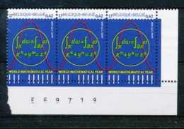 D - [810164]TB//**/Mnh-BELGIQUE 2000 - N° 2890, Triplette Cdf, Sciences Exactes, Mathématiques - Nuovi