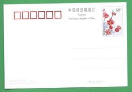 """Chine - Carte Maximum - Entier Postal Année 2000 """"Fleurs"""" - 1949 - ... République Populaire"""