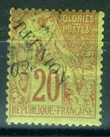REUNION ( POSTE ) : Y&T N°  29  TIMBRE  BIEN  OBLITERE   , A  VOIR . - Used Stamps