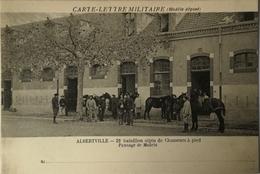 Militair // Carte Lettre Militaire // Albertville /% 22e Bataillon Alpin De Chasseurs A Pied 19?? - Militari