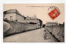 - CPA SAINT-PIERRE-SUR-ERVE (53) - Rue Principale 1913 - Photo Dolbeau 801 - - Francia