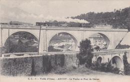 Vallée D'Ossau - ARUDY - Le Viaduc Et Pont De Germe - Train Vapeur - Arudy