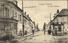 Cp Anizy Le Château Aisne, Deutsche Straße, Deutsche Soldaten - Autres Communes