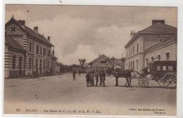 CPA 04 : 22 - DIGNE Les Gares PLM Et SF - Attelage - Train Des Pignes - Ed. LL Dames De France - - Digne
