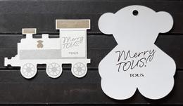2 TARJETAS TOUS - MERRY TOUS. - Cartes Parfumées