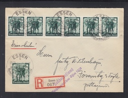 Dt. Reich R-Brief 1938 Sonderpostamt Reichsgartenschau Essen - Brieven En Documenten
