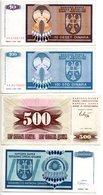 Bosnie Herzegovine / Lot De 4 Billets - Bosnia Y Herzegovina