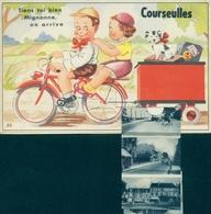 Leporello Cp Courseulles-sur-Mer Calvados, Tiens Toi Bien Mignonne, Hafen, Straßenansichten - Autres Communes