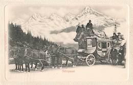 Poste Et Facteur Schweizerische Gebirgspost Diligence Suisse Malle Postale De Montagne - Post