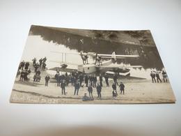 HAUTE GARONNE SAINT FERREOL CARTE PHOTO TRES RARE ATTROUPEMENT DEVANT HYDRAVION 27.12.1925 - Saint Ferreol