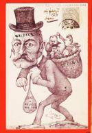 Car465 Peu Commun ORENS 1902 Caricature WALDECK ROUSSEAU Juste Retour Choses 1er Panier Sac à Malice Affaire HUMBERT - Satirisch