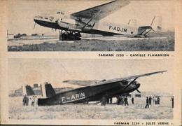 """CPA. > Entre Guerres > Avions FARMAN 2230 """"Camille Flamarion"""" Et Le 2234 """"Jules Verne"""" - En TBE - 1919-1938: Entre Guerres"""