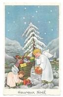 Heureux Noel Anges Jeux Jouets M.D. Paris Série. N° 1705 - Christmas