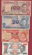 Tanzanie 9 Billets Dans L 'état - Tanzanie