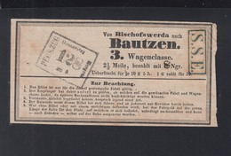 Fahrschein Bischofswerda Bautzen 3. Klasse - Bahn