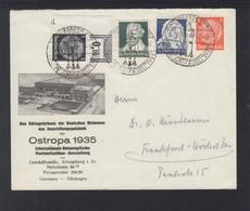 Dt. Reich Umschlag Ostropa 1935 Sonderstempel - Storia Postale
