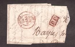 Fragment De Lettre - 10 Janvier 1839 - Type 14 Nismes (rouge) Pour Privas - Port Payé PP (rouge) - Marcophilie (Lettres)