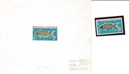 # Wallis Et Futuna Epreuve Artiste Essai Couleur Avec Indiquation Encres YT T38 Poisson Lune Thallassoma Lunare - Covers & Documents