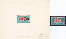 # Wallis Et Futuna Epreuve Artiste Essai Couleur Avec Indiquation Encres YT T38 Poisson Lune Amphiprion Percula - Covers & Documents