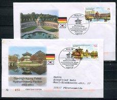 """First Day Cover Germany/Korea 2013 Mi.Nr.3013/14 Ersttagsbriefe """"130 Jahre Diplomatische Beziehungen Mit Südkorea """"2 FDC - Gemeinschaftsausgaben"""