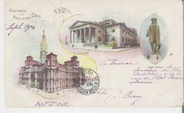 PENNSYLVANIA - PHILADELPHIA. CPA Voyagée En 1904 Multivues Illustrées (coins Marqués Voir Scan) - Philadelphia