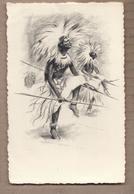 CPSM RUANDA - Danseurs Du Ruanda - SUPERBE PLAN DESSIN ILLUSTRATION - Edition LEDAC - Rwanda