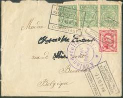 Affr. ALLEGORIE-GUILLAUME IV à 25c. Obl. Ferroviaire LUXEMBOURG KLEINBETTINGEN CONVOYAGE Sur Enveloppe Du 9-5-1915 Vers - 1907-24 Ecusson