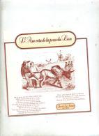 Arriere Carton Emballage Fable La Fontaine Theme Ane Lion Moulin - Autres Collections