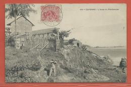 GUYANE CARTE POSTALE AFFRANCHIE DE 1910 DE CAYENNE - Guyane Française (1886-1949)