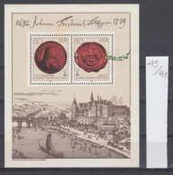 91K45 / 1982 - Michel Nr. Block 65 ( ** ) Bridge Sailing , Johann Friedrich Böttger - German Alchemist , DDR , Germany - Blocs