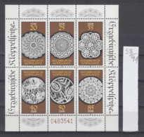 91K58 / 1988 - Michel Nr. Klb. 3215 - 3220 ( ** ) Erzgebirgische Klöppelspitze , DDR , Germany Allemagne - Blocs