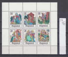 91K59 / 1978 - Michel Nr. Klb. 2382 - 2387 ( ** ) Märchen (XIII): Rapunzel , Horse Scissors , DDR , Germany Allemagne - Blocchi