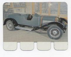 """Schneider 1925 - Chromo Métallique N° 63 """" L'auto à Travers Les âges """" """" De Auto Door De Eeuwen Heen """" - Cromos"""