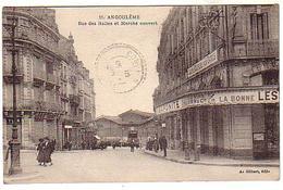 Angoulême - Rue Des Halles Et Marché Couvert - A. Gilbert éd.  - Circulé - Angouleme