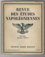 Revue Des études Napoléoniennes -XVIIIe Année N°86- 5 Mai 1929-imprimerie Moderne De Versailles - Livres, BD, Revues