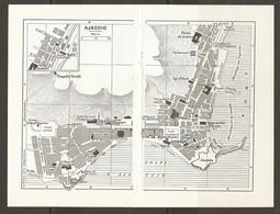CARTE PLAN 1955 - CORSE AJACCIO - CONSULAT D'ITALIE GROTTE NAPOLÉON GENDARMERIE CHAPELLE PERALDI - Topographische Karten
