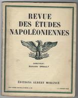 Revue Des études Napoléoniennes -XVIIIe Année N°82- 1 Janvier 1929-imprimerie Moderne De Versailles - Livres, BD, Revues