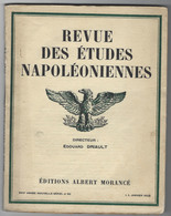 Revue Des études Napoléoniennes -XVIIIe Année N°82- 1 Janvier 1929-imprimerie Moderne De Versailles - Bücher, Zeitschriften, Comics