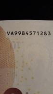 EURO SPAIN 10 V009 VA99 RARE JUST 1 CHARGE UNC DRAGHI LAST ONE - EURO
